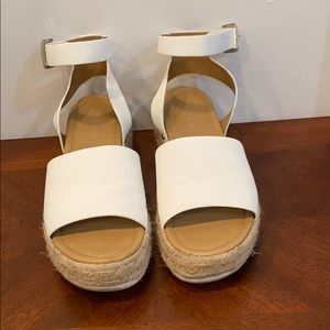 Shoes - White wedge sandals